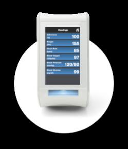Spencer mit biometrischen Messwerten